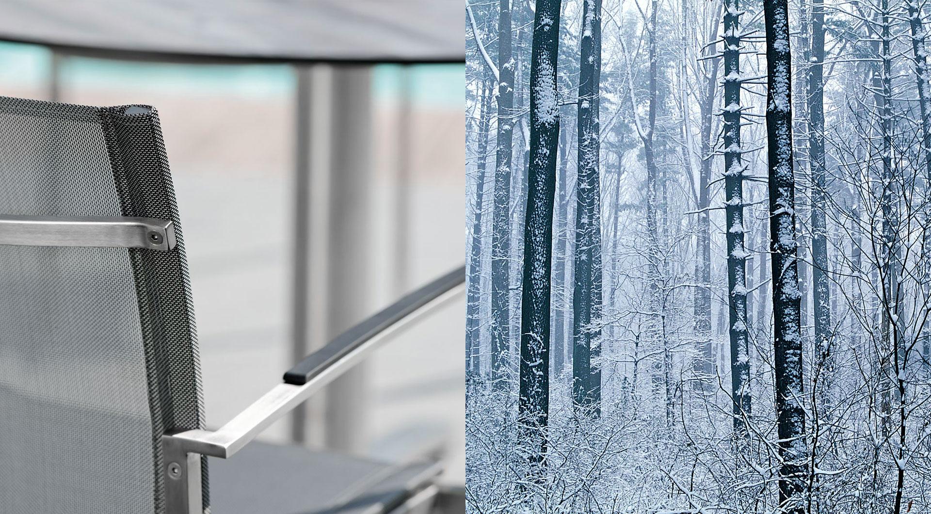 Gartenmöbel für den Winter bei Holz Roeren