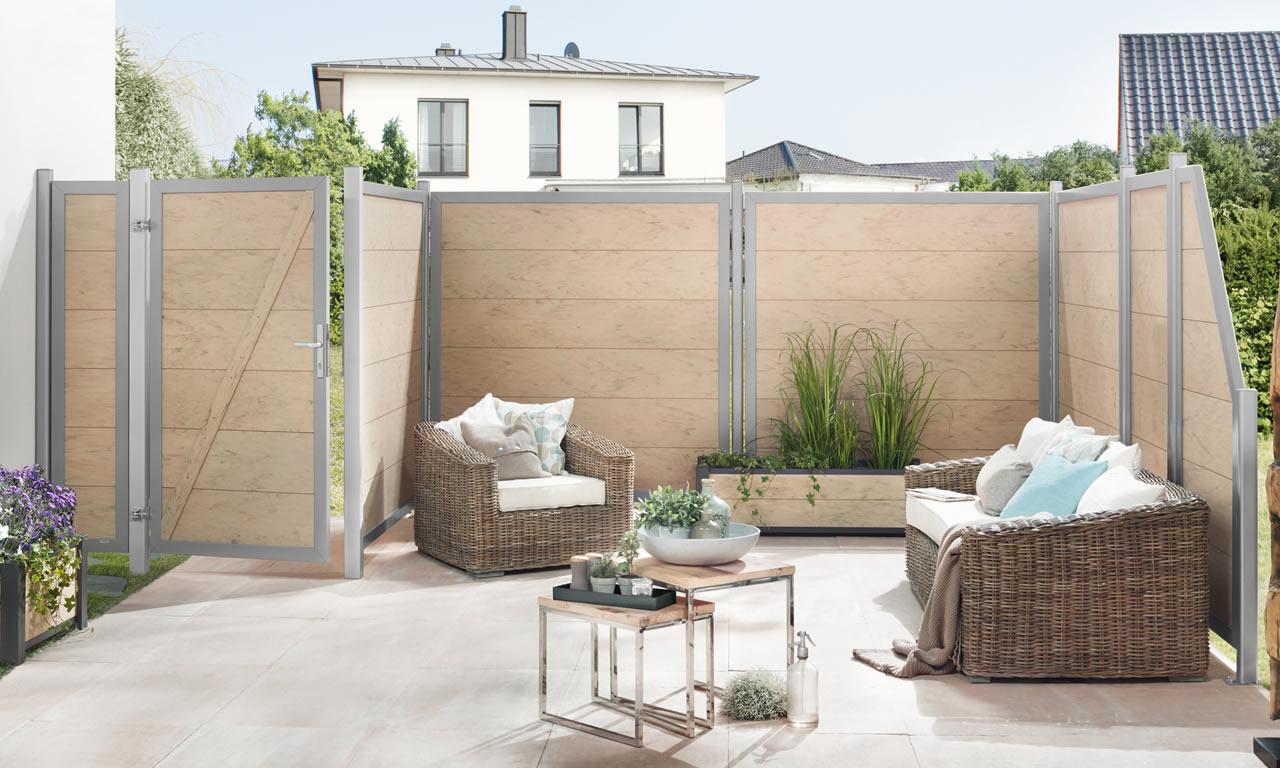 Kreieren Sie ihren individuellen Sichtschutz oder Zaun aus hochwertigem WPC - Holz Roeren
